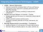 integrating measurement technologies usmn