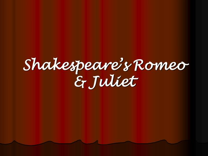 shakespeare s romeo juliet n.