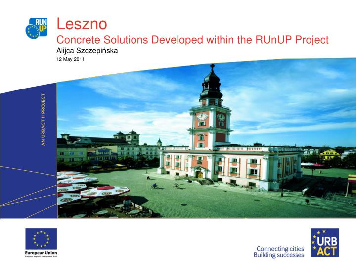 leszno concrete solutions developed within the runup project n.
