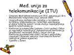 me unija za telekomunikacije itu