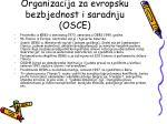organizacija za evropsku bezbjednost i saradnju osce
