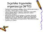 svjetska trgovinska organizacija wto