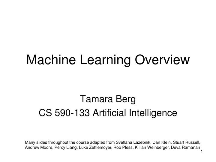 machine learning overview n.