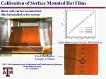 calibration of surface mounted hot films1