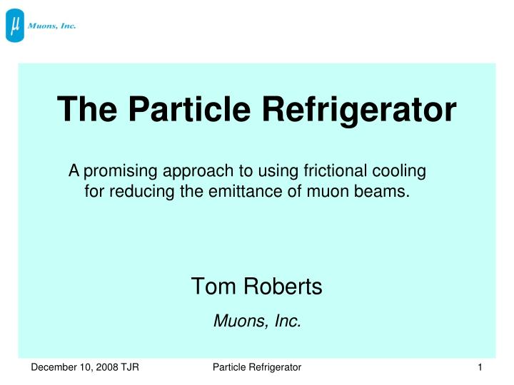 the particle refrigerator n.