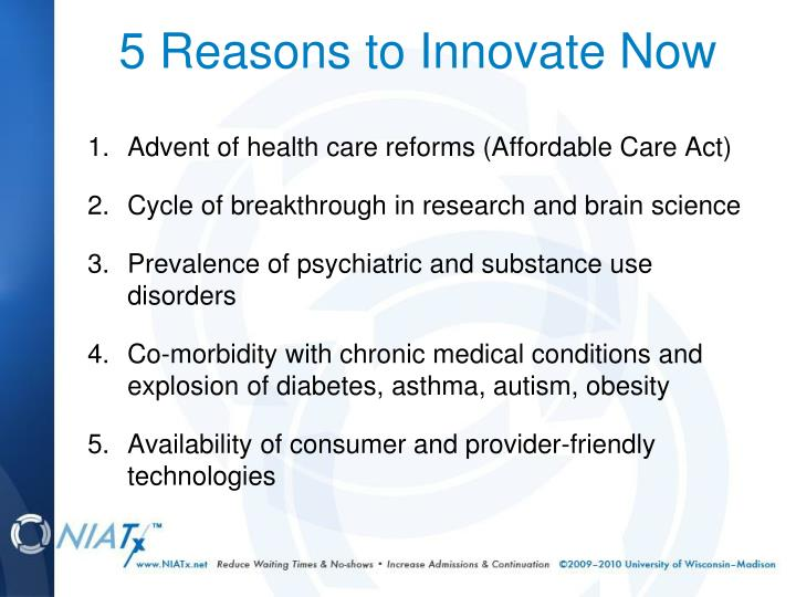 5 reasons to innovate now