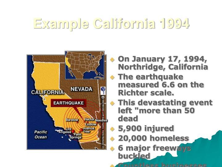 Example California 1994