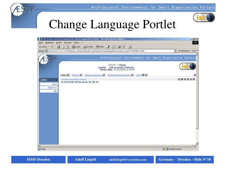Change Language Portlet