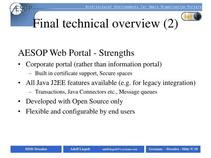 Final technical overview (2)