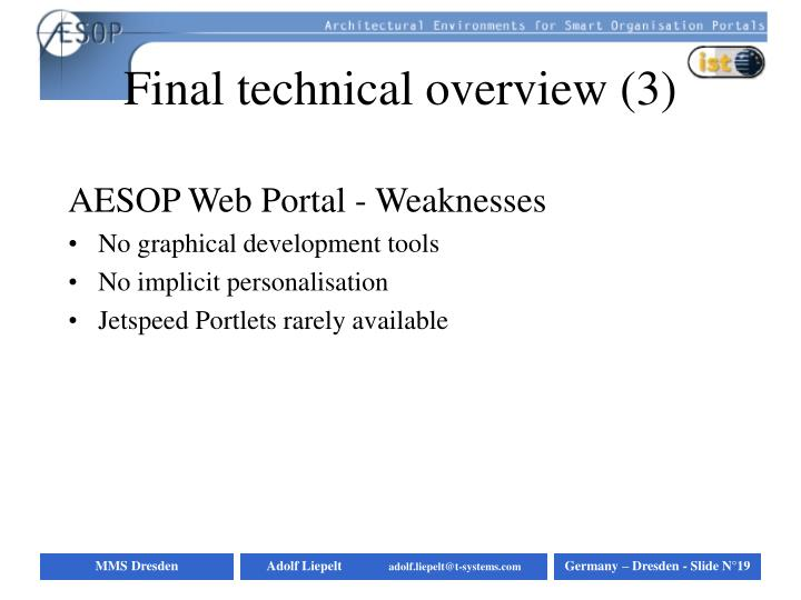 Final technical overview (3)