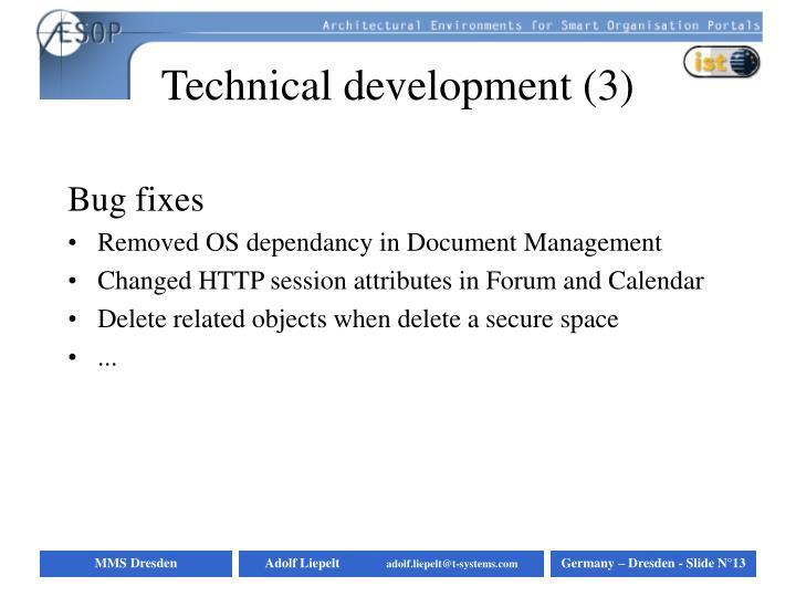 Technical development (3)