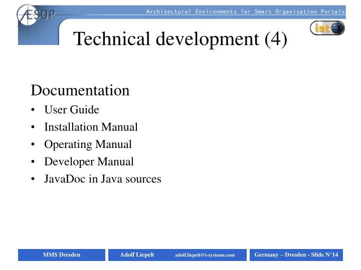 Technical development (4)