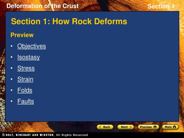 section 1 how rock deforms n.