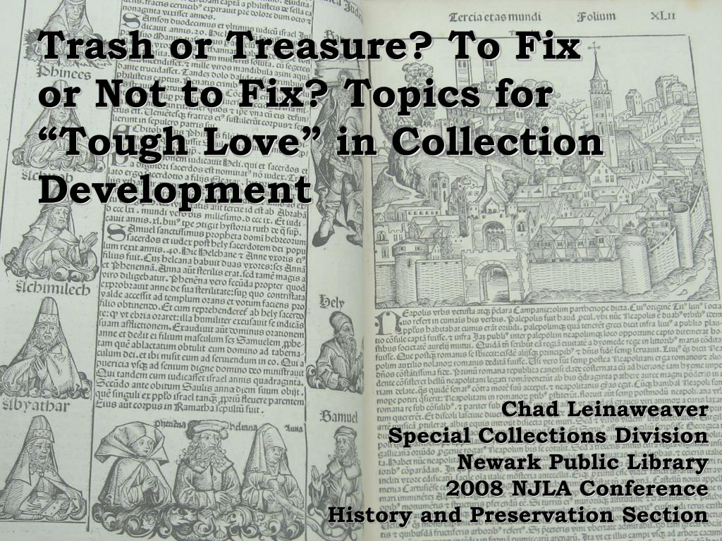 """Ppt trash or treasure? To fix or not to fix? Topics for """"tough."""