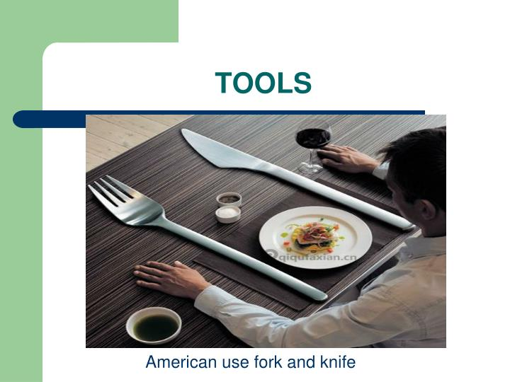 American use fork and knife