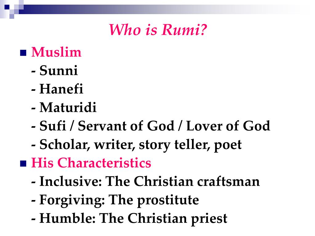 Ppt Rumi And His Resting Place 1207 1273 Powerpoint Presentation Free Download Id 6176478