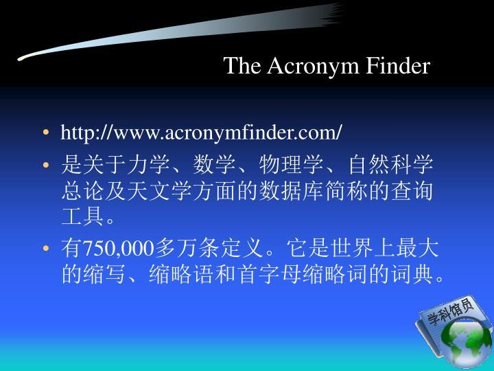 The Acronym Finder