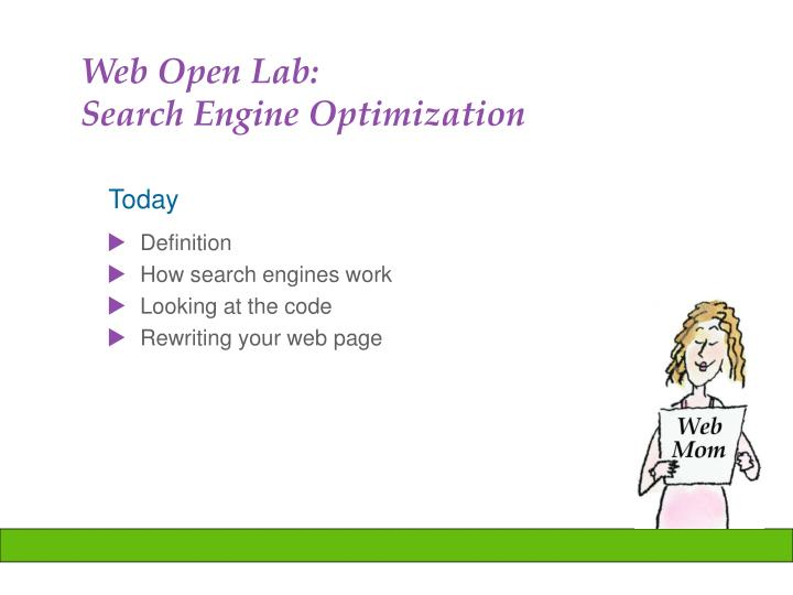 web open lab search engine optimization n.