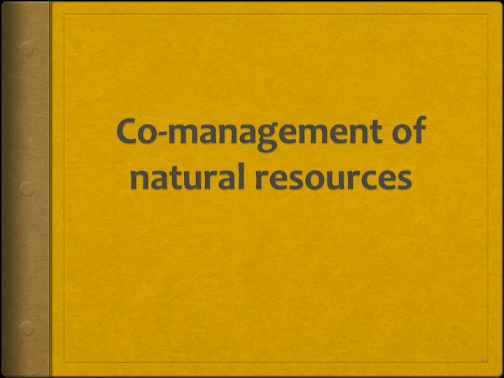 co management of natural resources n.