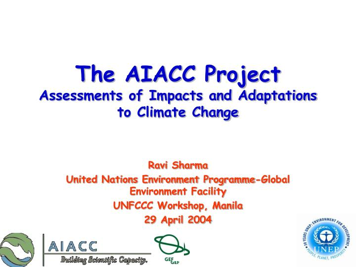 the aiacc project assessments of impacts and adaptations to climate change n.