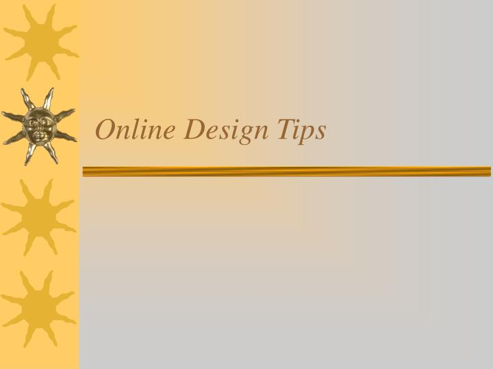 online design tips n.