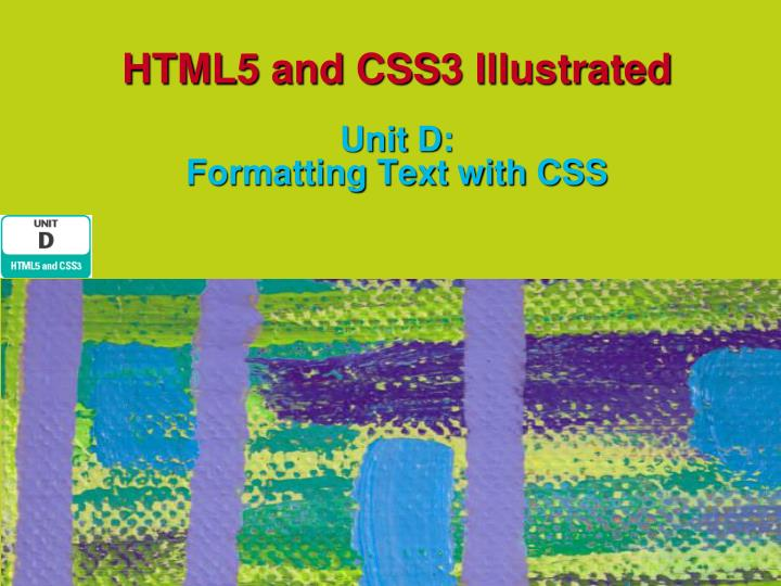 html5 and css3 illustrated unit d formatting text with css n.