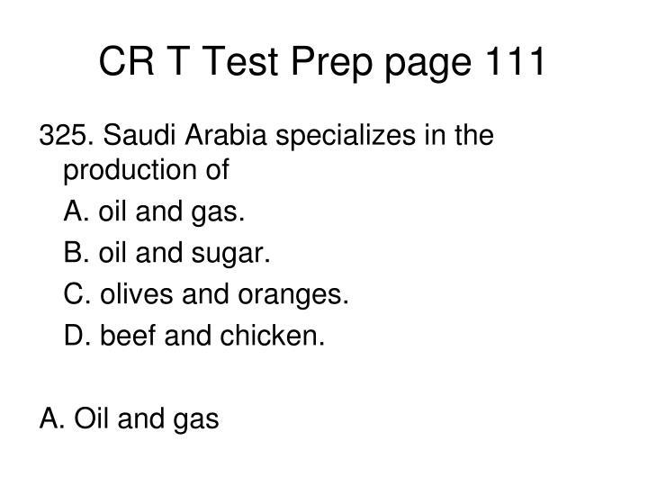 CR T Test Prep page 111