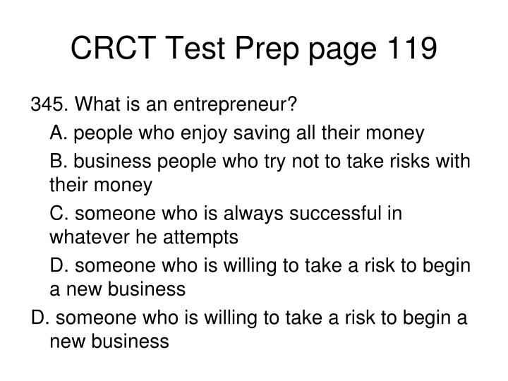 CRCT Test Prep page 119