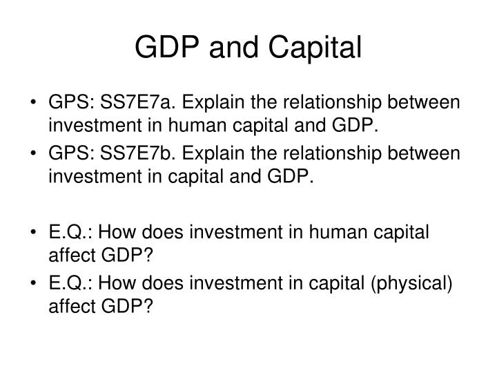 GDP and Capital
