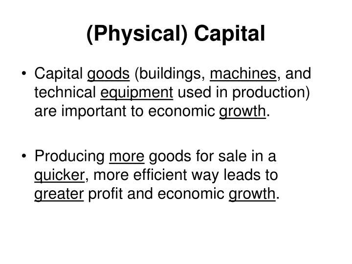 (Physical) Capital
