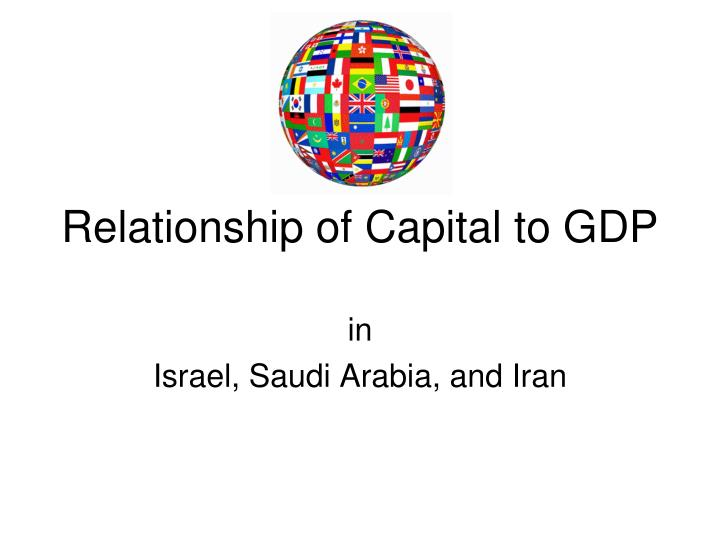Relationship of Capital to GDP