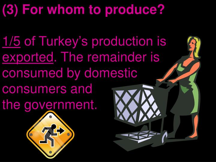 (3) For whom to produce?