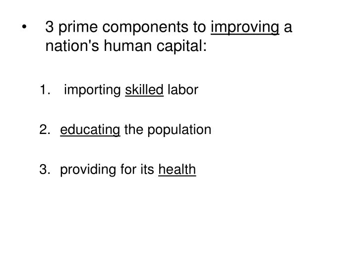 3 prime components to