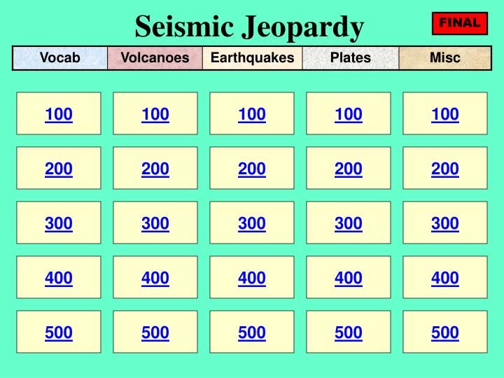 seismic jeopardy n.