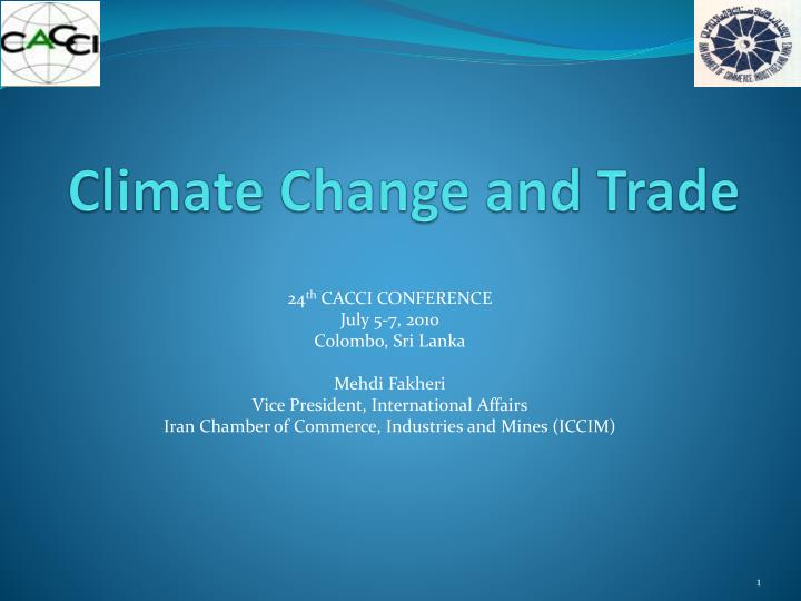 climate change and trade n.