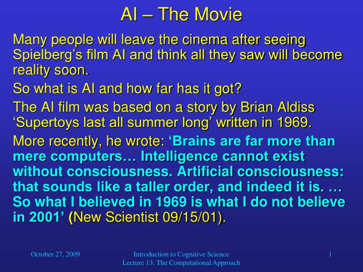 ai the movie n.