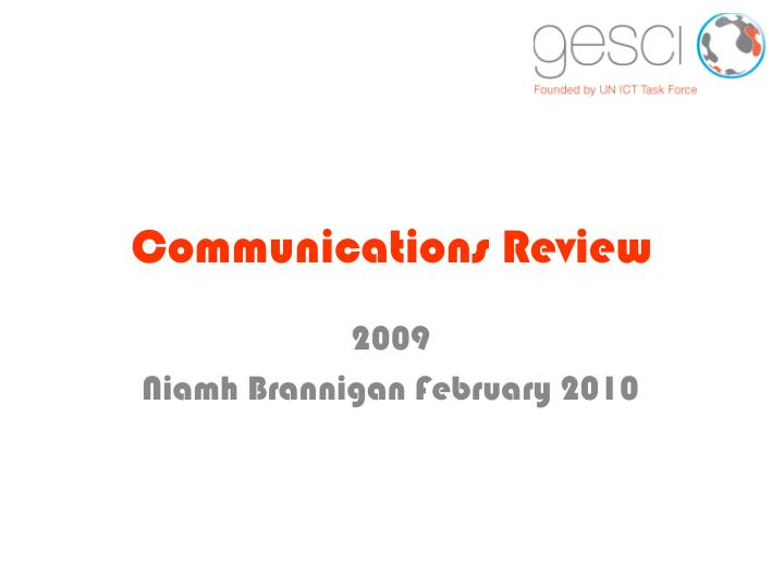 communications review n.