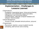 implementation challenges lessons learned