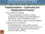 implementation continuing the collaborative process