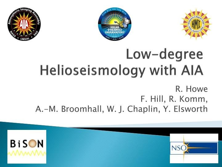low degree helioseismology with aia n.
