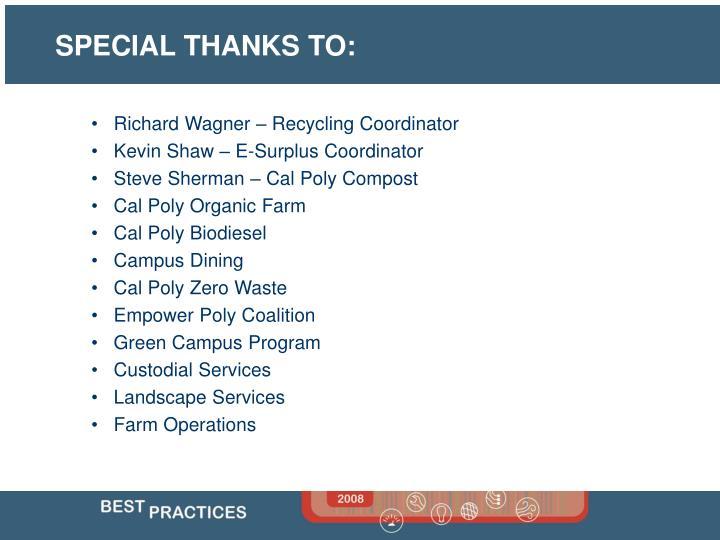 Richard Wagner – Recycling Coordinator