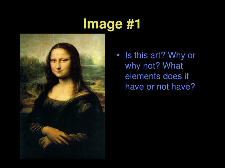 Is this art? Why or why not? What elements does it have or not have?