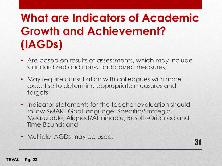 Are based on results of assessments, which may include standardized and non-standardized measures;