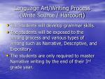 language art writing process write source harcourt