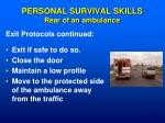 personal survival skills rear of an ambulance1