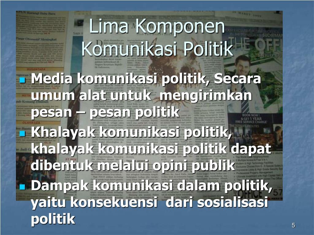 PPT - Komunikasi Politik dan Pembangunan PowerPoint ...
