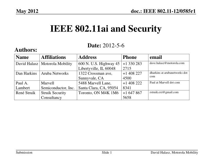 ieee 802 11ai and security n.