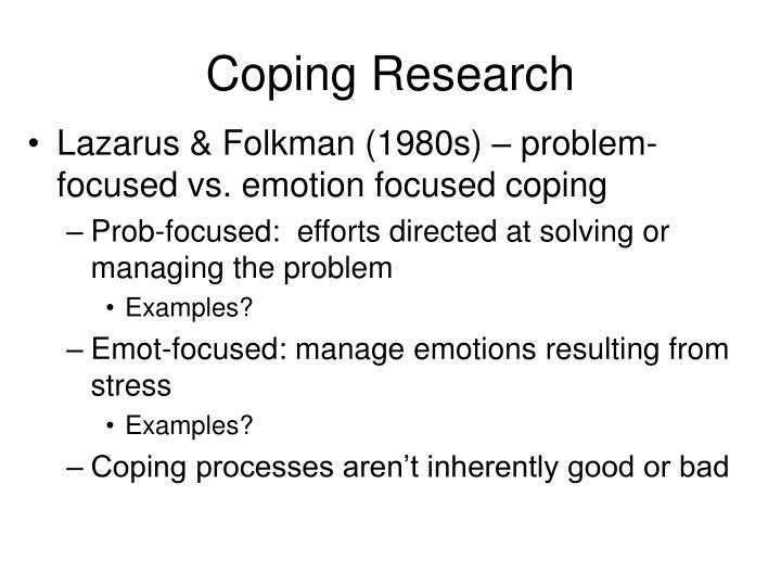 emotion focused coping examples