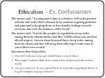 ethicalism ex confucianism