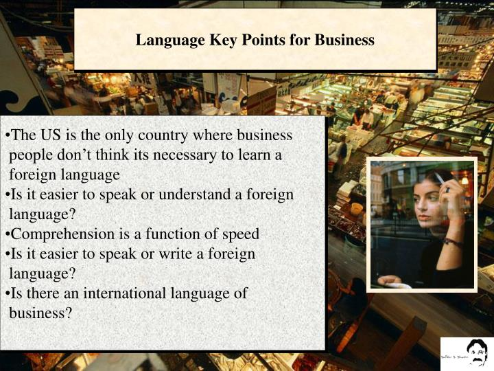 Language Key Points for Business